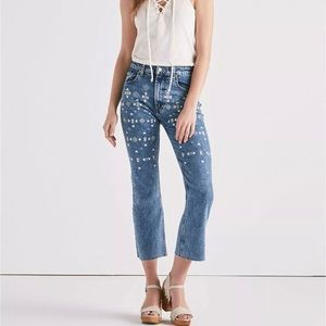LUCKY BRAND |  High Rise Cropped Jean Embroidery